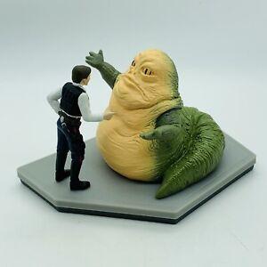 Vtg Star Wars Han Solo Jabba The Hutt Jumbo PVC Figurine Statue Applause 1997
