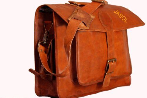 Men/'s Genuine Vintage Brown Leather Messenger Bag Shoulder Laptop School Bag New