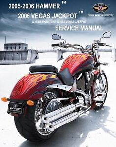 Details about Victory 2005 2006 Hammer & Vegas Jackpot service manual on