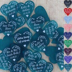 Personnalise-Mariage-Faveurs-26-Decorations-de-table-Monsieur-Madame-love-c-ur-3-cm-Confettis