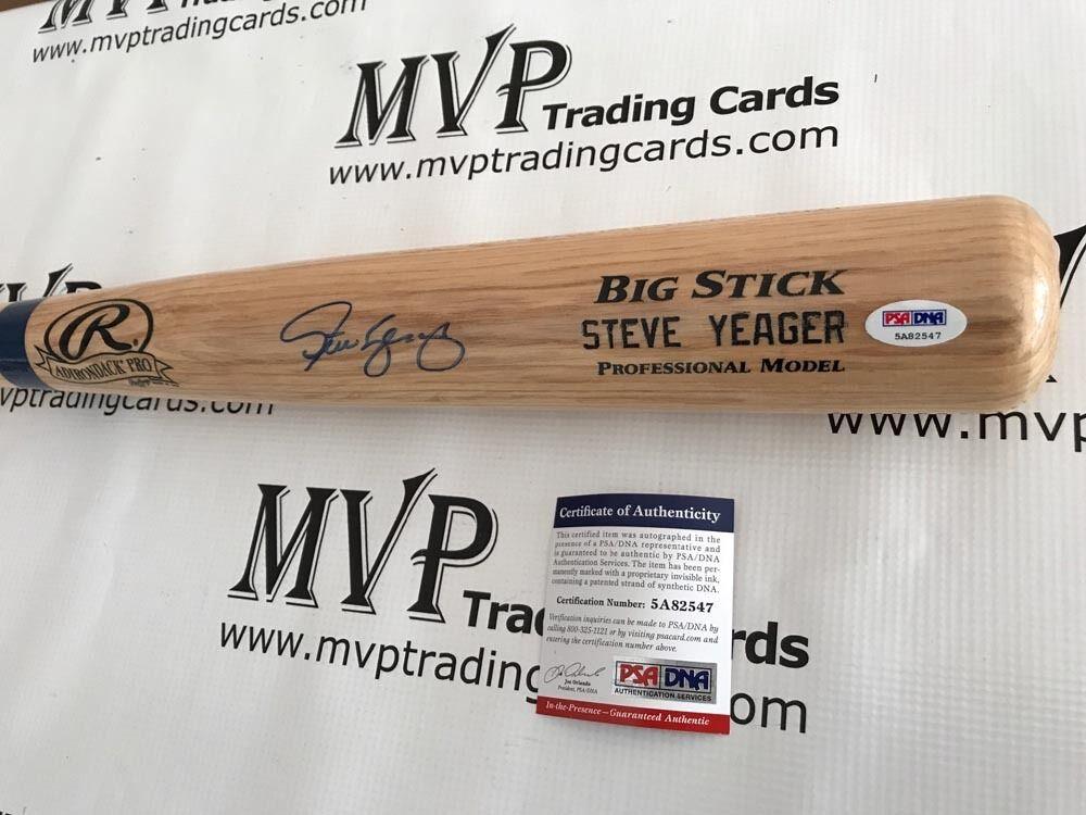 Steve Yeager autographe Rawlings Ash Batte de Baseball Los Angeles Dodgers