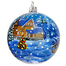 Setter in The Woods Glass Ball Christmas Ornament Dogs Pup Hand blown in Russia