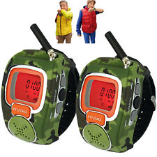 Wrist Watch Walkie Talkie Two-Way Radio FreeTalker Portable Interphone LCD Camo