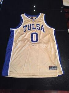 timeless design 4edd6 8dd98 Details about Game Worn Used Tulsa Golden Hurricane Basketball Jersey #0  Size XL