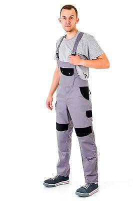 Humor Bib And Brace Overalls Mens Work Trousers Knee Pad Dungarees Multi Pocket Grey. Geschickte Herstellung