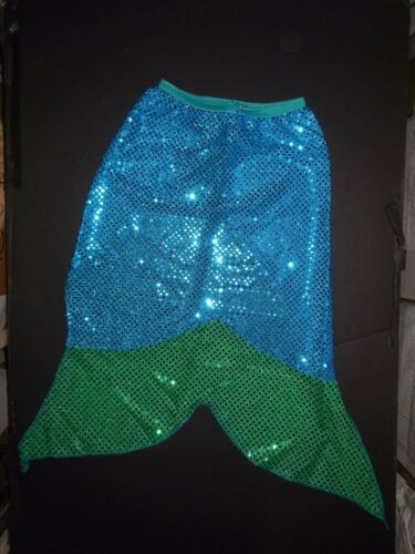 NWT dance costume mermaid tail sequin girls sizes Turquoise Green Elastic waist