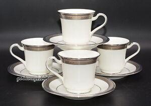 Noritake-Continental-Cobalt-4-SETS-CUPS-amp-SAUCERS-1-Saucer-Flawed