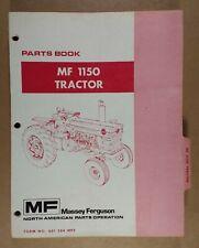 Massey Ferguson Mf 1150 Tractor Parts Book 651 284 M92