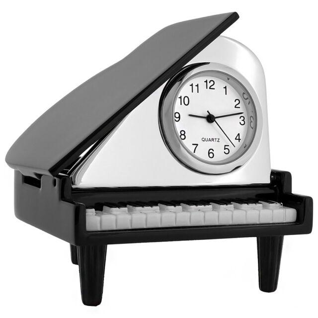 PIANO BABY GRAND MINIATURE COLLECTIBLE GIFT MUSIC DESKTOP CLOCK