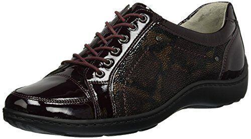 WALDLAUFER 496005 Henni wide fit Cuir Verni À Lacets Chaussures Amovible Semelle