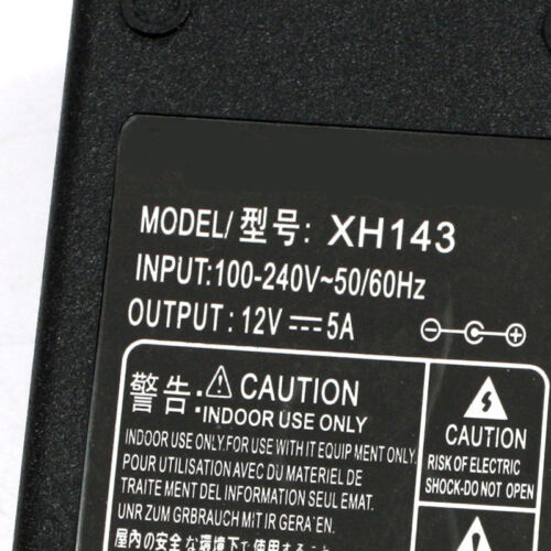 S230 12V 5A 60W Power Supply AC Adapter Charger for PC 3528 5050 LED Strip TV