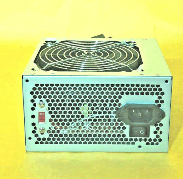 450 Watt Stable Quiet Fan w// Grill ATX Power Brick for Upgrade Replacement Black