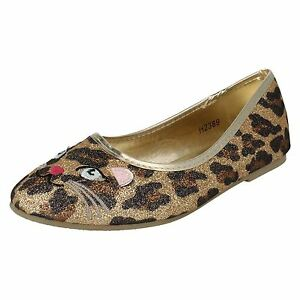 H2R186 SPOT ON GIRLS SLIP ON SEQUIN BALLERINA FLATS PARTY DOLLY SHOES PUMPS