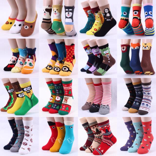 Free shipping [Buy5+Gift1] Choice ! Funny Fashion Cartoon Socks Women Kids