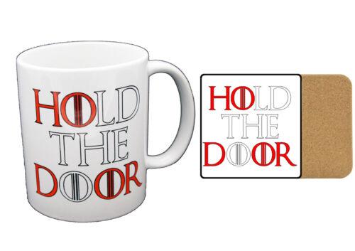 Game of thrones silence tenir la porte nouveauté tasse imprimé mug tasses-cadeau
