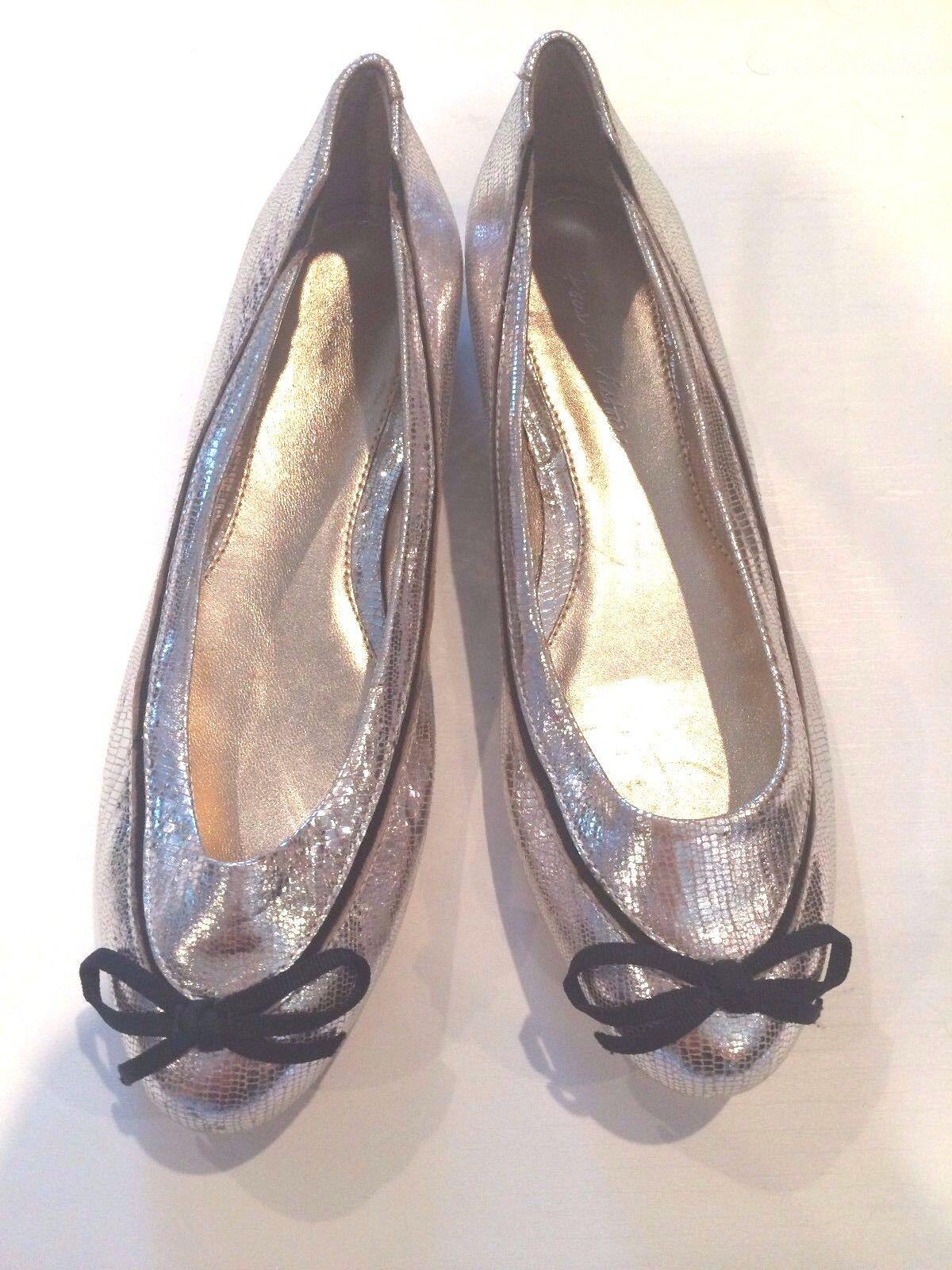 Pour La Victoire Juliette ballet schuhe Damens's Snake Silver 6 NEU