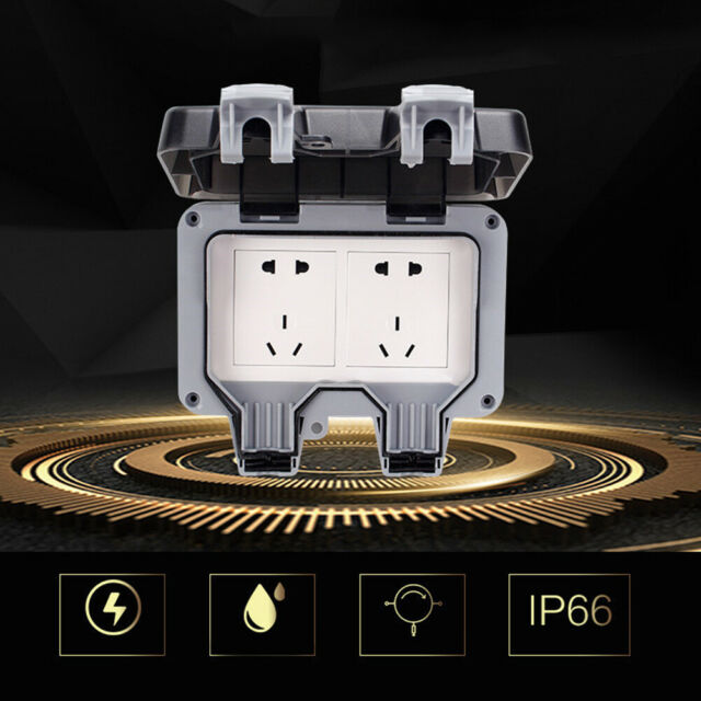 Waterproof Outdoor 13a 2gang Storm Switched Socket Double Ip66 Outside Use