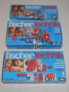 Fischertechnik Lot Séries Mot. 1 Moteur 2 Gear Mini