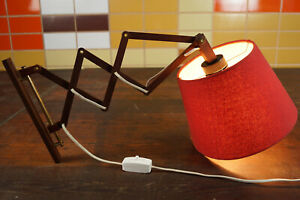 60er-Vintage-Scherenlampe-Teak-Danish-Modern-Wandlampe-Lampe-Leuchte