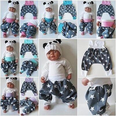 Baby Pumphose 50 56 62 68 74 80 86 92 Sterne Grau Lila Jersey handmade DaWanda