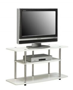 Details about Small TV Stand Media Console Wood for Flat Screens Bedroom  Entertainment Center