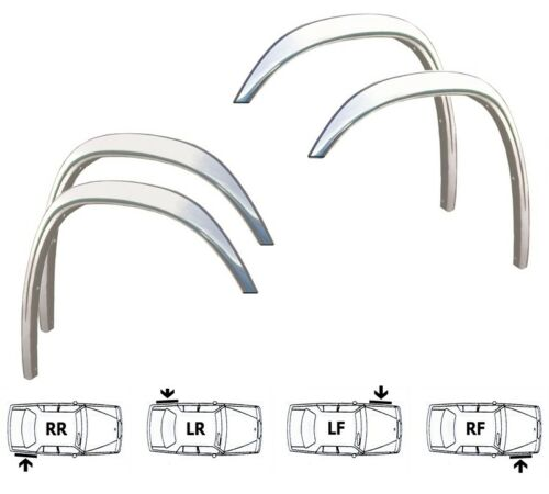 ISUZU TROOPER II Wing Arch Trim 5dr 91-02 CHROME spats Left Right set 4 pcs SaLe
