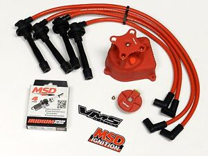 honda civic distributor wiring distributor cap + rotor + wires + msd spark plugs for 92 ... honda civic distributor cap wiring #8
