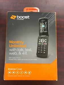 Kyocera-Coast-3G-CDMA-S2151-Boost-Mobile-pre-paid-Flip-Phone-New-Twigby-Tello
