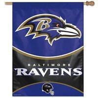Baltimore Ravens Wincraft Nfl 27x37 Banner/vertical Flag Free Ship, Brand