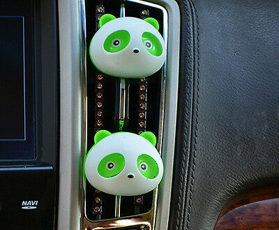 2x Auto Dashboard Air Freshener blink Lovely Panda Perfume Diffuser for Car