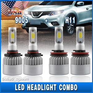 Image Is Loading Combo 9005 H11 Led Headlight Conversion Kit For