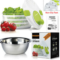 Progressive Salad Spinner Washer 100%bpa-free And Serving Bowl(stainless Steel)