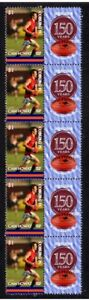 COBURG-FC-VFL-150th-FOOTBALL-STRIP-OF-10-VIGNETTE-STAMPS