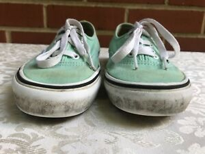 a1bddf87272 VANS CLASSIC OLD SCHOOL MINT GREEN LACE UP SNEAKERS SKATE MENS 4 ...