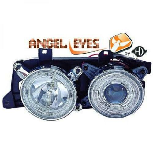 RHD LHD phares de projecteur Paire Angel Eyes clair chrome pour BMW E34 88-95