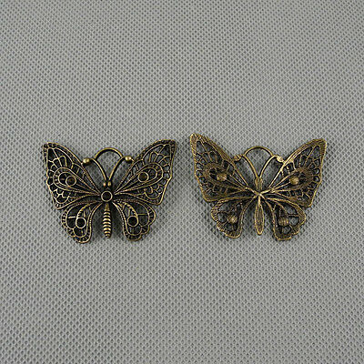 1x Craft Supplies Jewelry Making Findings Retro Charms Pendant A2215 Butterfly