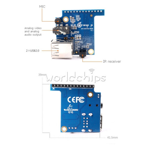 Orange Pi Zero Specialized Expansion USB Board PC IO for Microphone