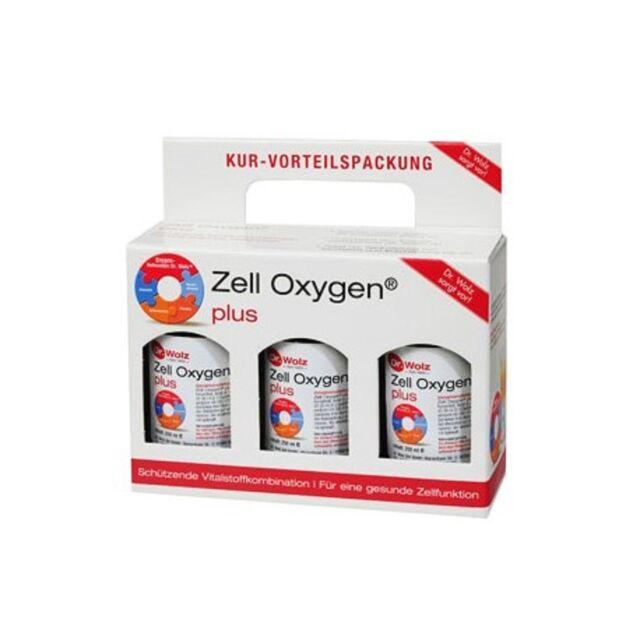 Zell Oxígeno Oxígeno Plus 250ml Paquete de 3