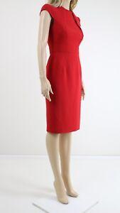 Vestito sera Uk rosso donna Millen da Karen 10 a da casual 8 lunghe maniche Dw427 wqET7aI