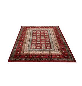 Webteppich-Teppich-Teppiche-Orient-orientalisch-Gabe-Klassisch-xl-xxl-rot-beige