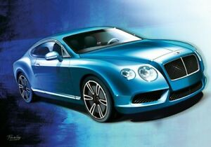 Print on canvas 2014 Bentley Continental GT V8 S by Dutch artist Ron de Haer