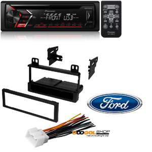 CD Single DIN Car Stereo Receiver Radio Dash Install Mounting Kit Wire Harness 3