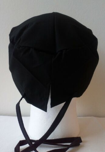 BLACK Tieback Scrub//theatre cap//hat with sweatband Doctors//Nurses//Vets//Chef//ODP