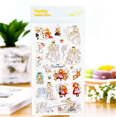 1 sheet THE SNOW QUEEN diary Planner PVC Scrapbooking Embellishments stickers