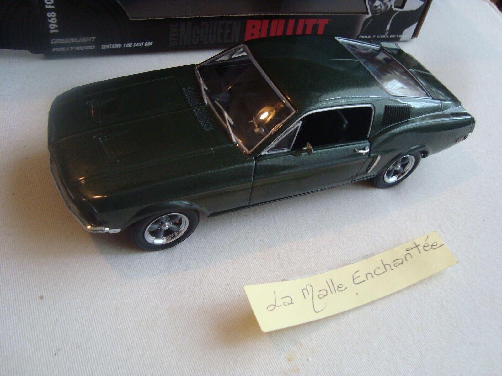 GREENLIGHT 1969 FORDT MUSTANG GT BULLIT STEVE MC QUEEN 1 24 IN BOX
