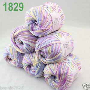 Sale-6-ballsx-50gr-DK-Baby-Soft-Cashmere-Silk-Wool-hand-knitting-Crochet-Yarn-29