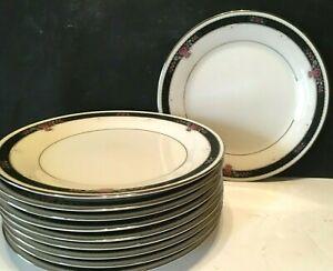 Set-of-TEN-10-Noritake-China-ETIENNE-8-1-4-034-Salad-Dessert-Plates-UNUSED-Japan