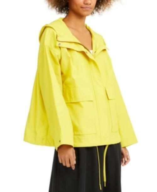 MSRP Eileen Fisher Hooded Relaxed Jacket Yellow Size XXS