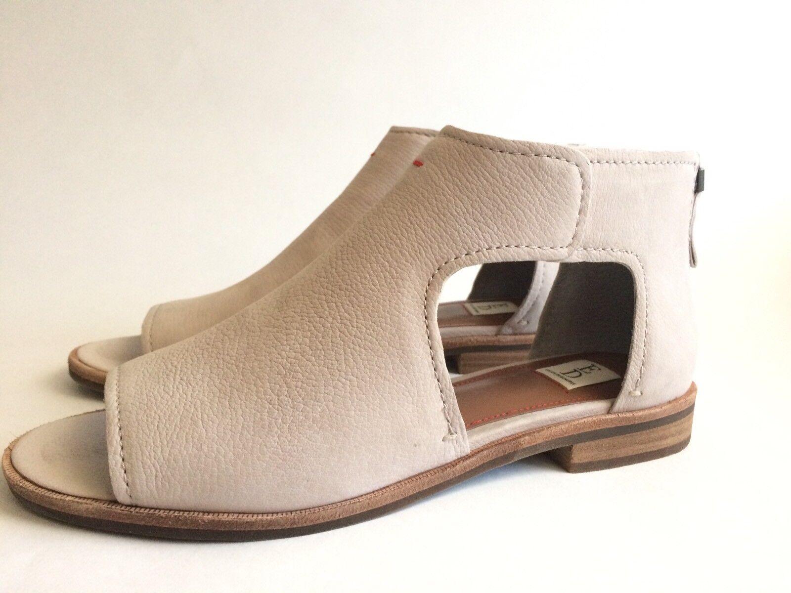 Ellen Degeneres ED-SURAH Cut Out Sandals Flats Leather US Sz 6.5 M