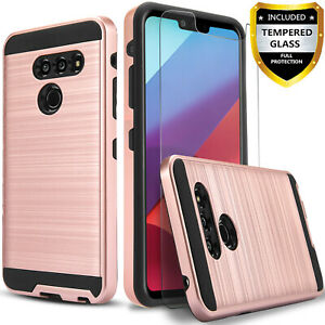 For-LG-G8-ThinQ-Phone-Case-Shockproof-Cover-Tempered-Glass-Protector